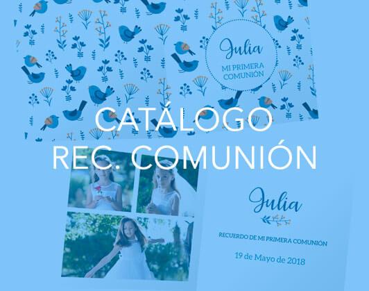 Catálogo Recordatorios Comunión